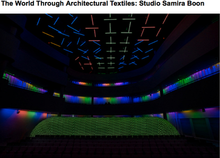 An interview with Samira Boon about architectural textiles.