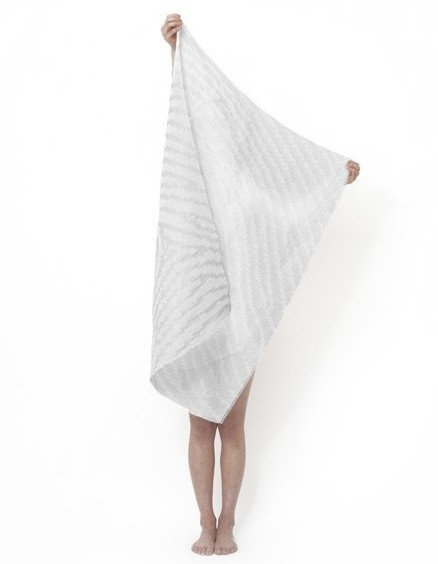 Changing Identity is a shawl collection with heat changing yarn and a constantly changing pattern designed by Samira Boon