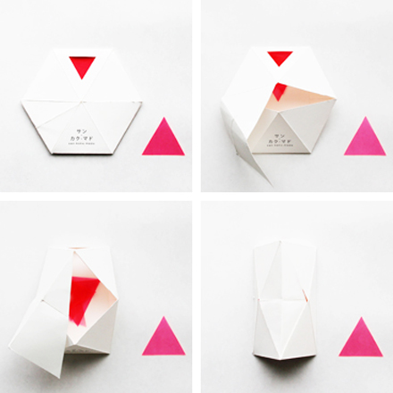 San kaku mado: a playful decal | packaging.
